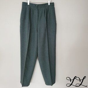 Vintage Pants Green Pleat Handmade 70/80s Straight